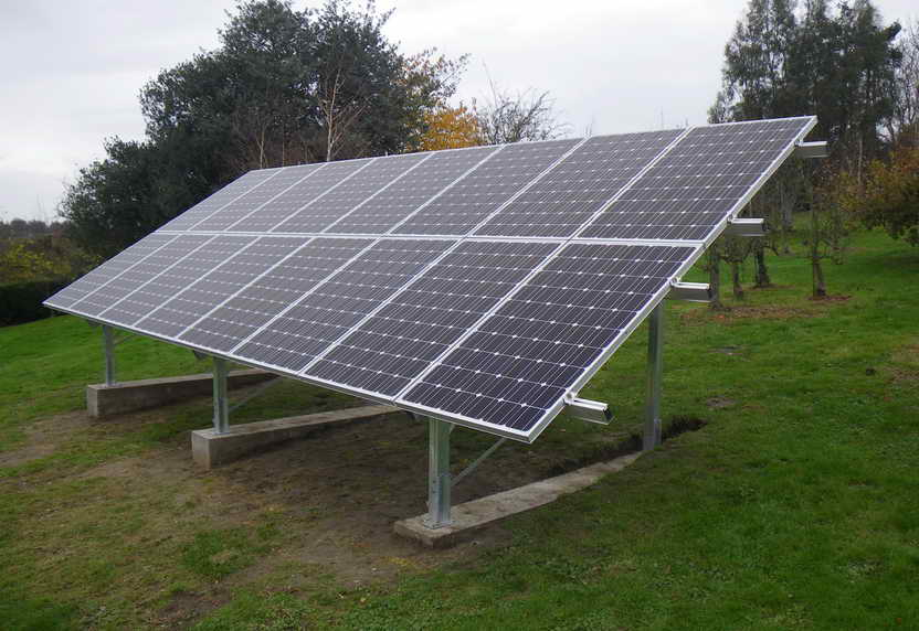 Solar PV panel array Faversham, Kent