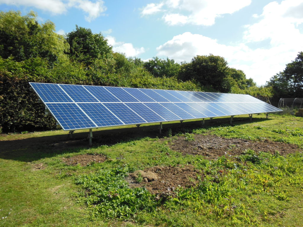 Solar PV panel array Dover, Kent