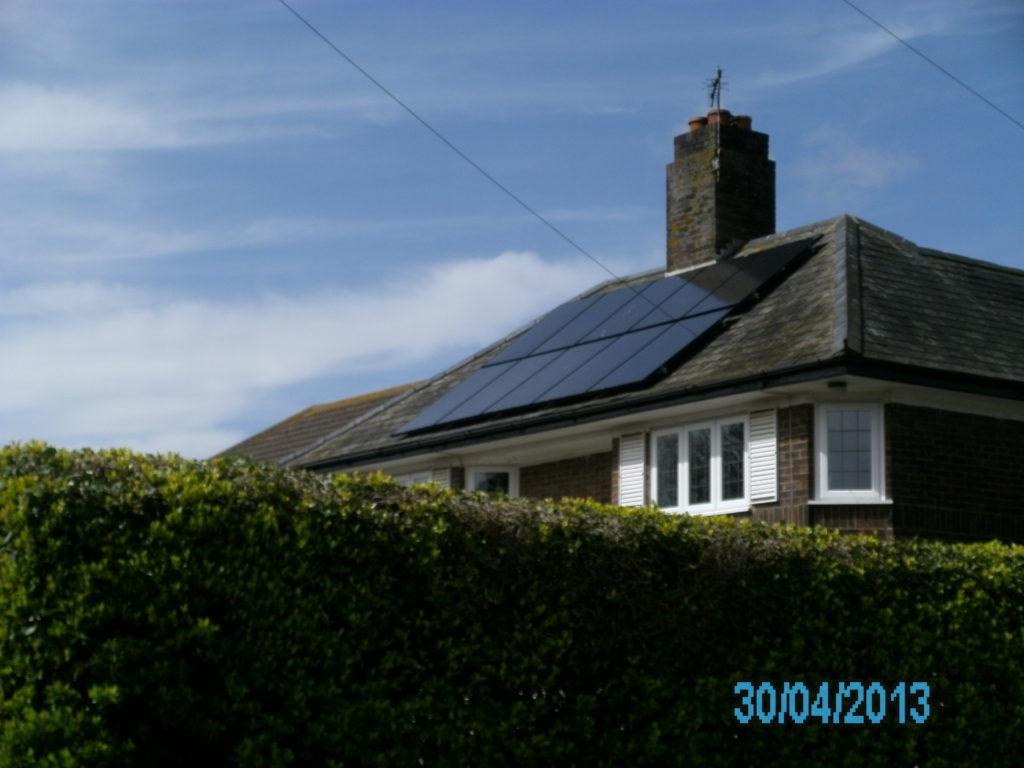 Solar PV panel array St Margarets Bay, Kent