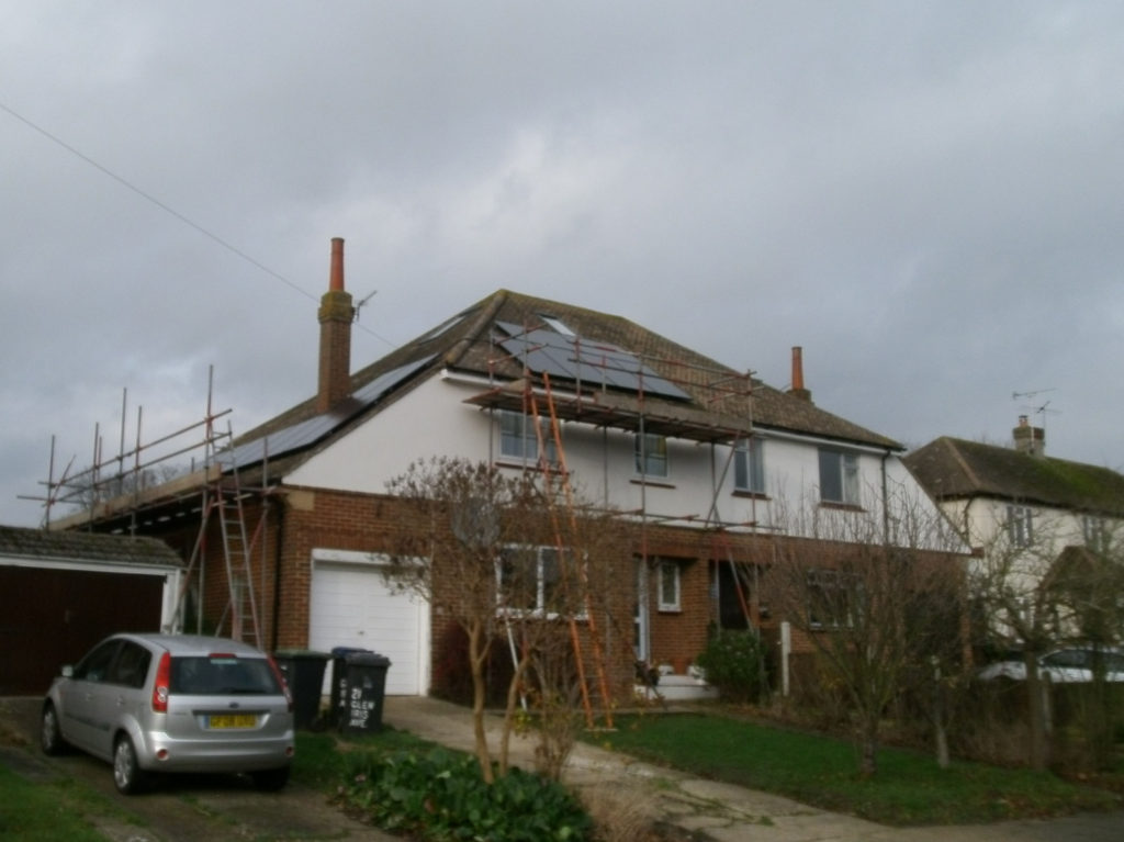 Solar PV panel array Canterbury, Kent
