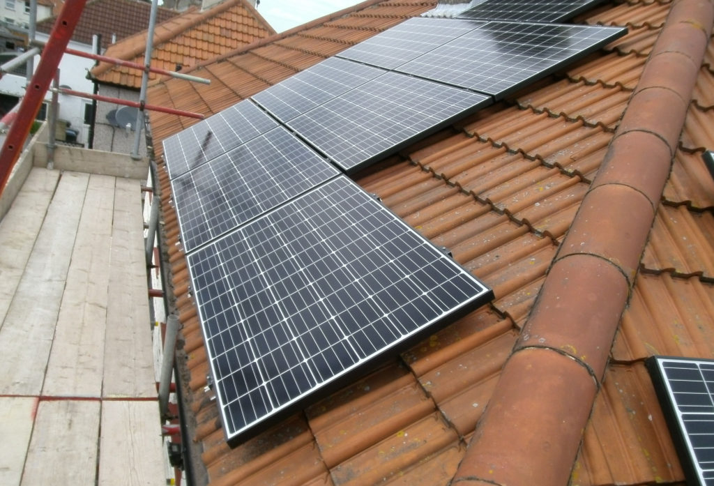 Solar PV panel array Deal, Kent