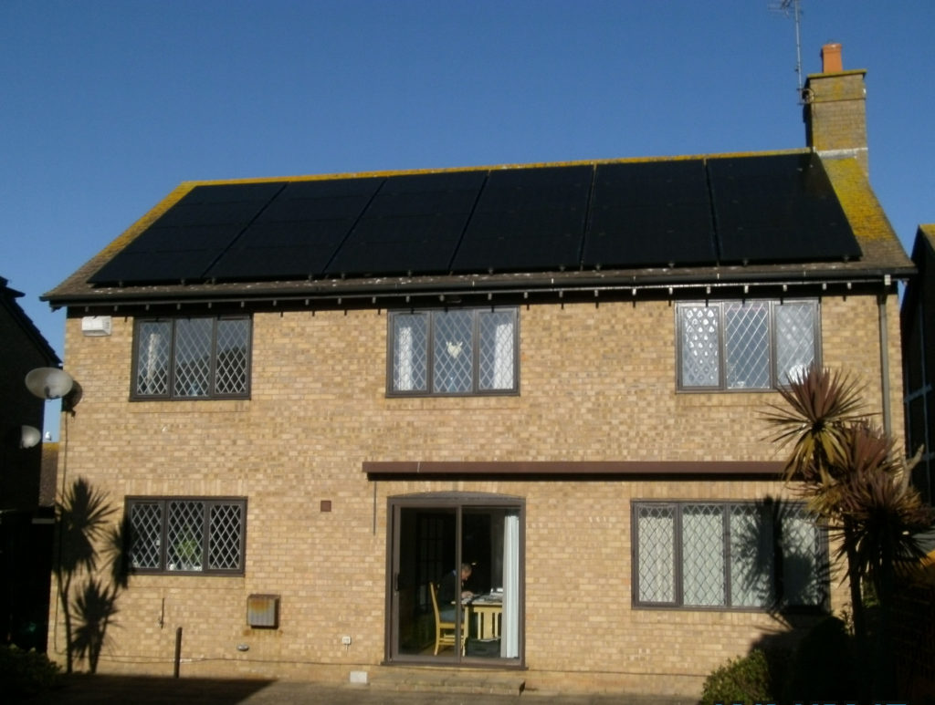 Solar PV panel array Whitstable, Kent