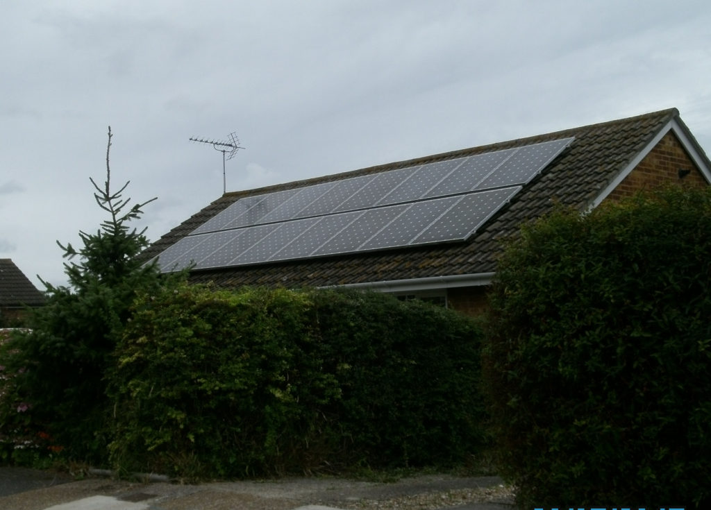 Solar PV panel array Birchington, Kent