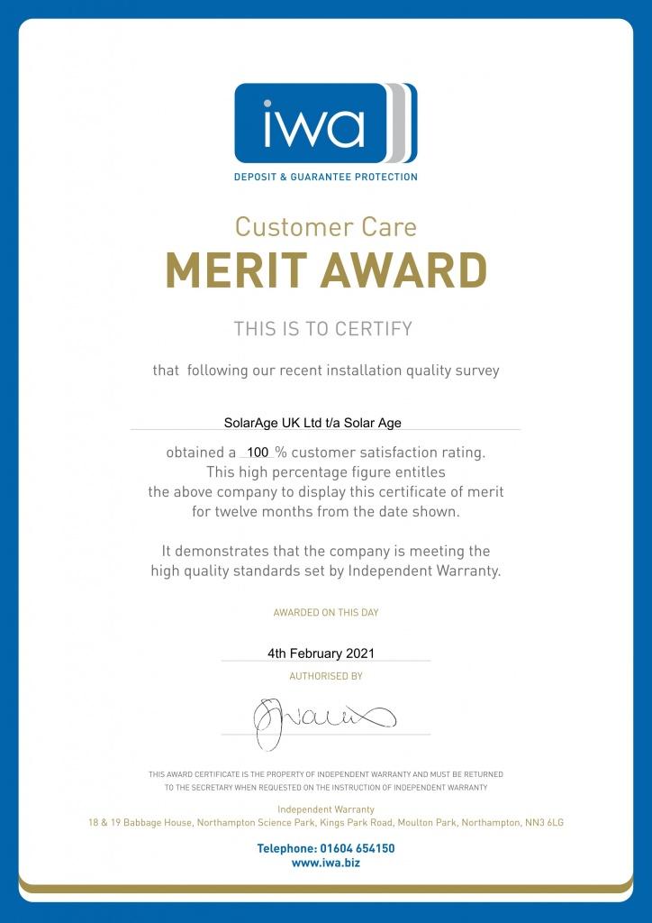 IWA merit award